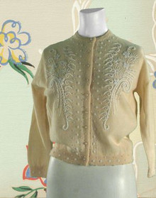1950s Sophisticated Beaded Sweater