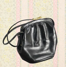 1930s black leather purse