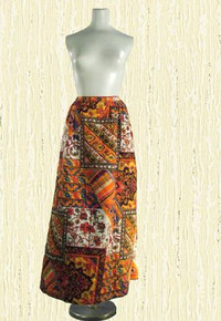 Late 60s Wild quilted cotton maxi skirt from Alex Coleman