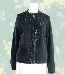 1960s angora & lambswool beaded sweater
