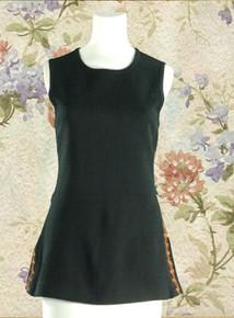 Long sleeveless tunic top, 70s