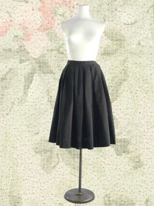 1950s pleated cotton skirt