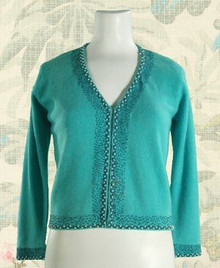 1960s angora v-neck sweater