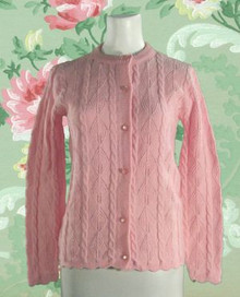 Pink acrylic sweater from the mid 60s