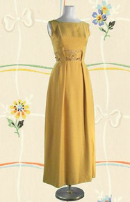 Late 60s shantung silk evening gown