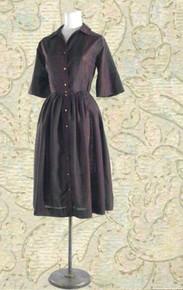 1960s plaid shirt-dress
