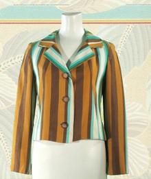 Late 60s cropped linen blazer
