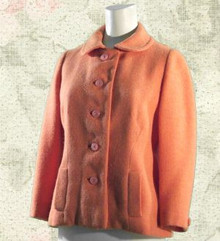 1960s Salmon-pink wool tweed fitted jacket