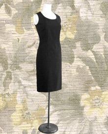 Black sleeveless Oleg Cassini dress