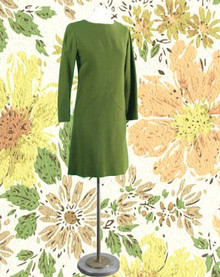 1960s olive green day dress