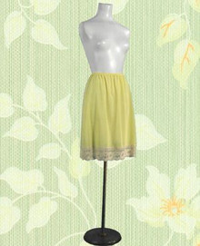 Lemon yellow 1960s half slip