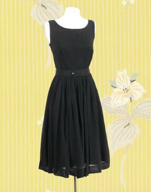 Early 1960s Chiffon Little Black Dress