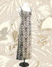 1960s linen summer gown