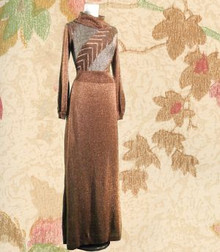 New old stock metalic copper Wenjilli gown