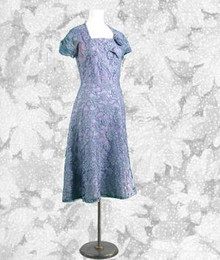 Lavender blue 1960s Form Fit dress