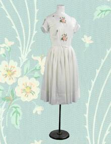 Crisp white Toni Todd dress