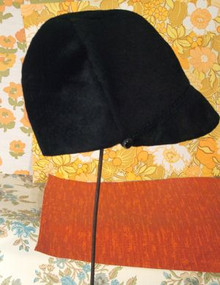 Thoroughly modern black 1960s hat