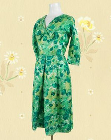 Silk 1960s Mad Men Malcolm Starr Dress