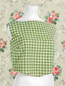 Green checked cropped top