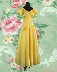 Sunflower yellow 1930s gown