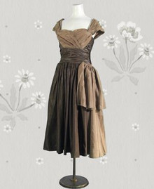 Shimmery 1950s party dress