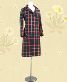 Lovely tarten plaid wool coat