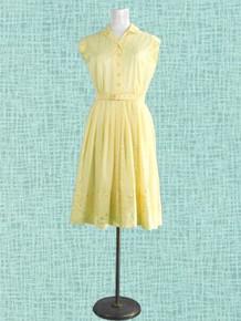 1960s Sunny yellow dress