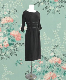 1960s Black wool dress