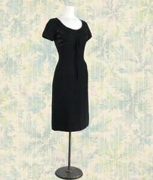 Late 1940s sleek little black dress