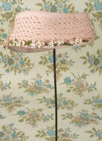 Pretty pink hat with rhinestone netting