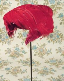 Red hot velvet hat