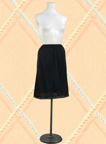 Black nylon half slip