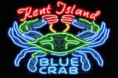 KI Blue Crab Neon 12x18 Print