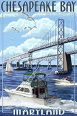 Chesapeake Bay Bridge 12x18 Print