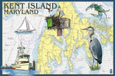 K.I. Nautical Chart 12x18 Print