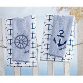 Ships Wheel Hand Towel Set