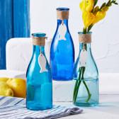 Glass Bottle w/ Hanging Fish
