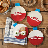 Bobber Appetizer Plates w/ Fish Spreader