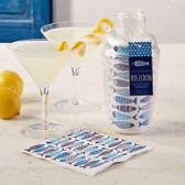 Santorini Cocktail Shaker w/ Napkins