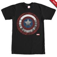 Captain America   Detailed Shield   Mens T-shirt