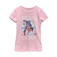 Marvel   MLB   Chicago Cubs   Captain Cub   Womens T-shirt