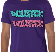 WildPack | Dual Logo |  Men's T-shirt | Purple