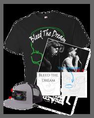Bleed The Dream   New EP   Green Skull Men's T-shirt   Poster   Hat