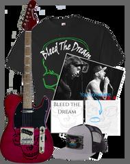 Bleed The Dream   New EP   Green Skull Men's T-shirt   Poster   Hat   Guitar