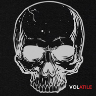 Volatile | Full Skull | Canvas Patch