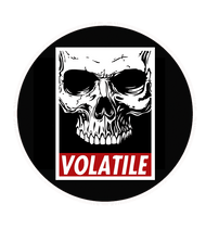 Volatile | Skull | 1  inch pin