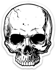 Volatile | Skull | Die Cut Sticker