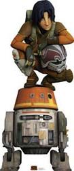 Star Wars Rebels Ezra Chopper Cardboard Stand Up