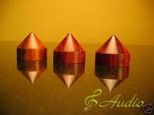 4 pieces Audio Equipment Brown Wooden Feet for Hi-End Equipment