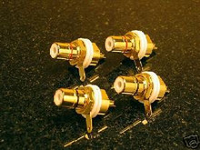 8 PCS GOLD PLATED RCA FEMALE CONNECTOR CHASSIS SOCKETS